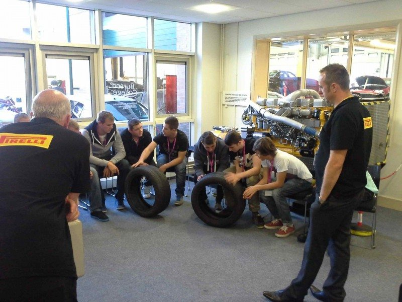 Pirelli supports Tyre Safety Month with Burton College classes