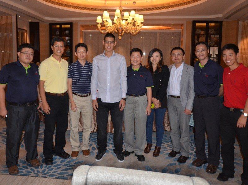 NBA star Jeremy Lin visits Houston Rockets sponsor Kenda
