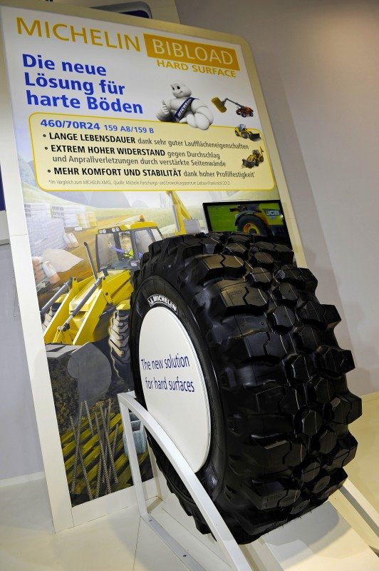 Michelin shows hard surface tyre at Agritechnica