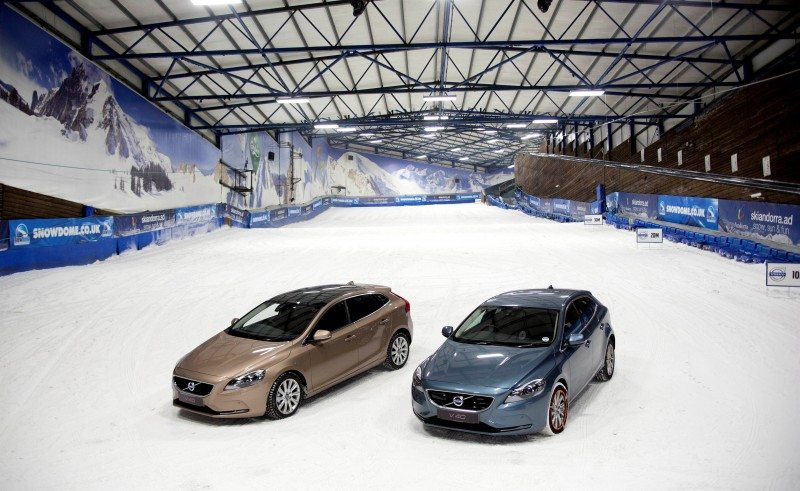 TV star and Volvo in winter tyre demo