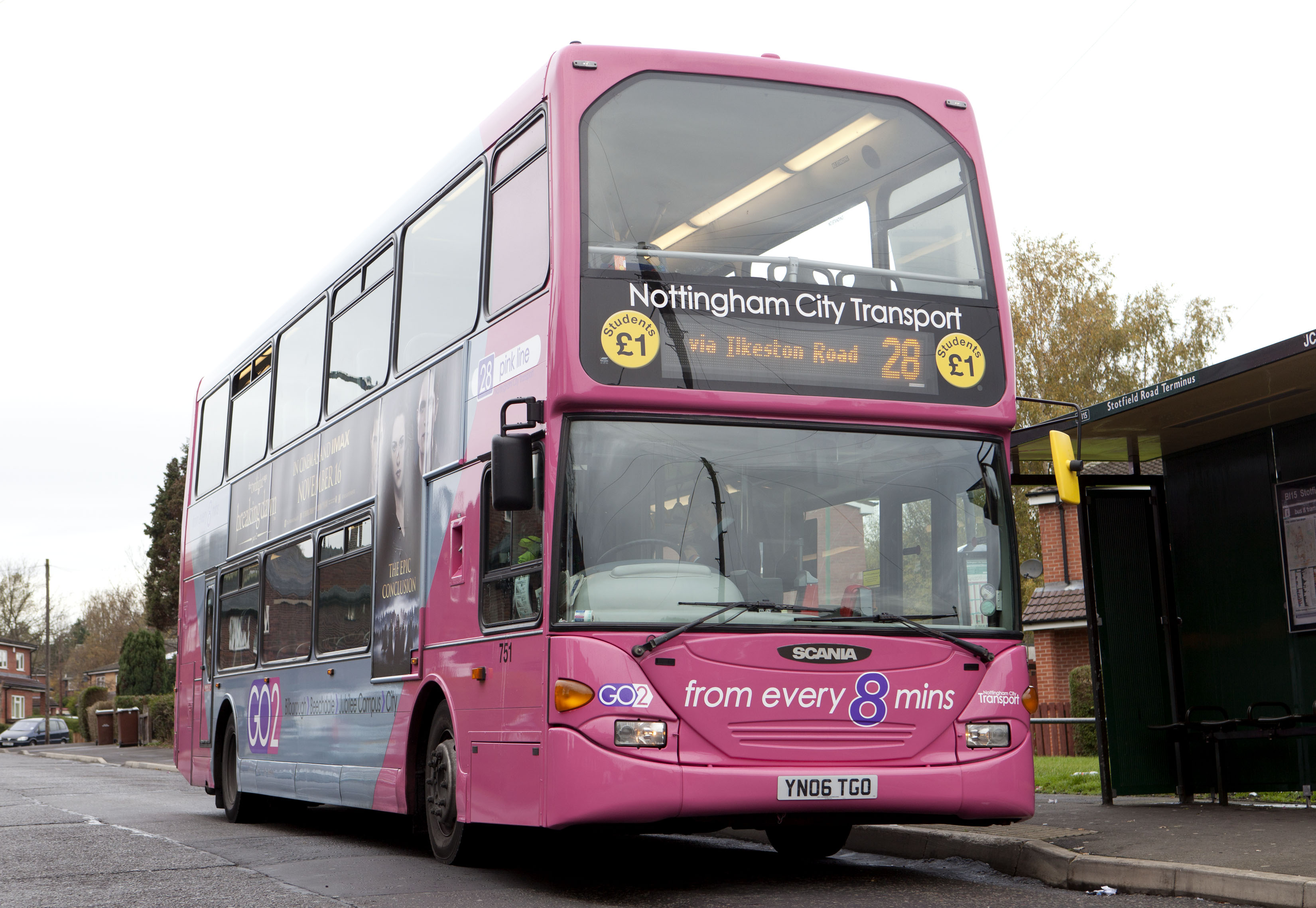 PFC Brakes on Nottingham City Transport bus