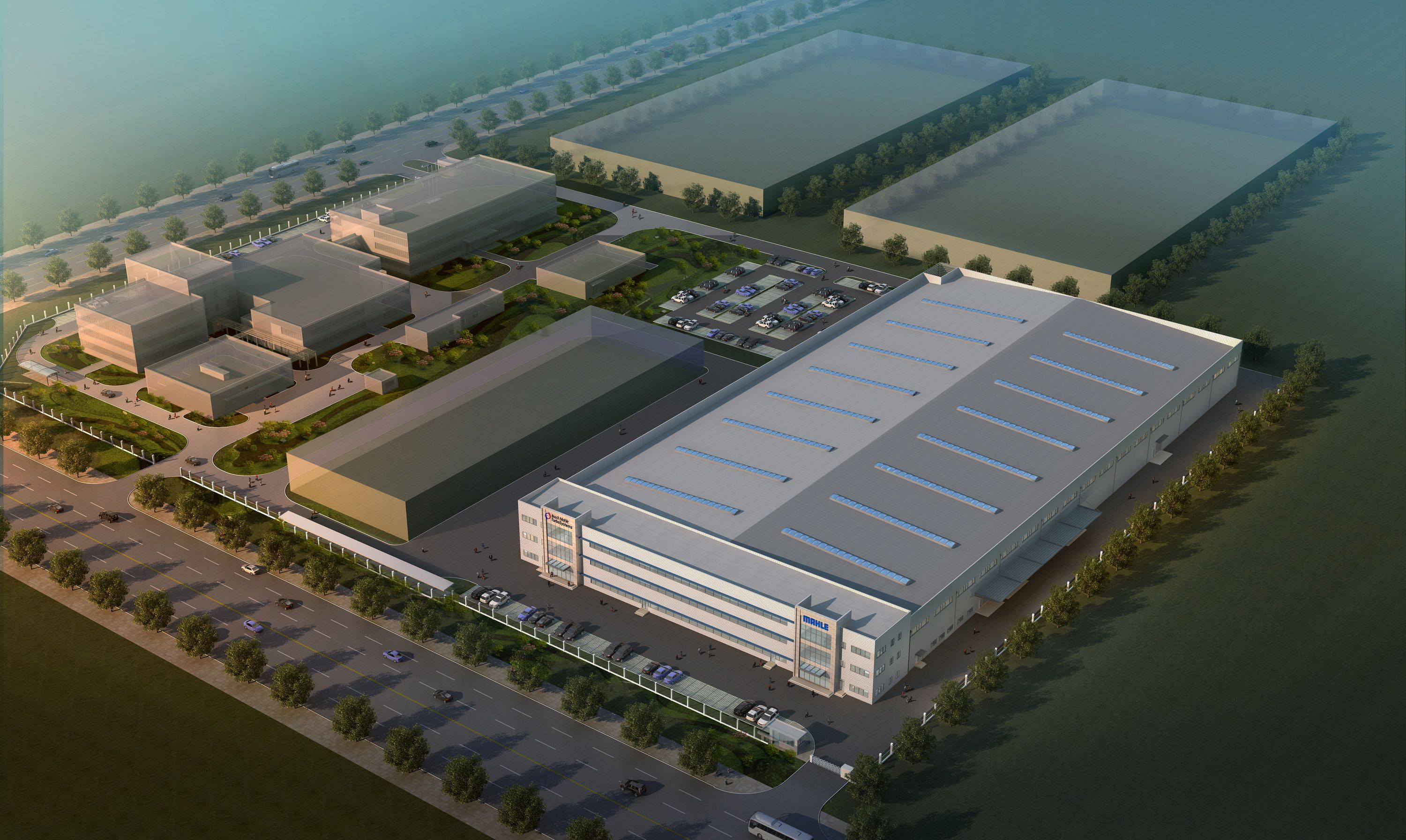 The new Bosch Mahle turbo charger factory in China