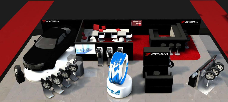 Yokohama's Geneva motor show stand