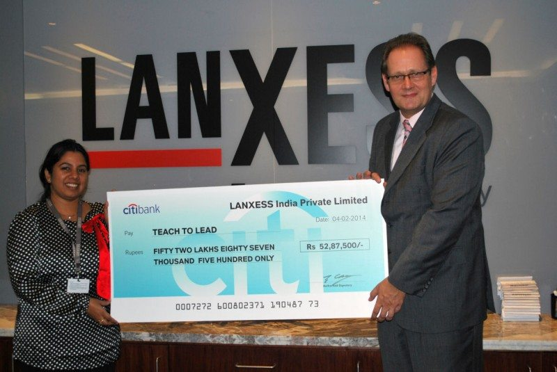 Lanxess continues Teach For India support