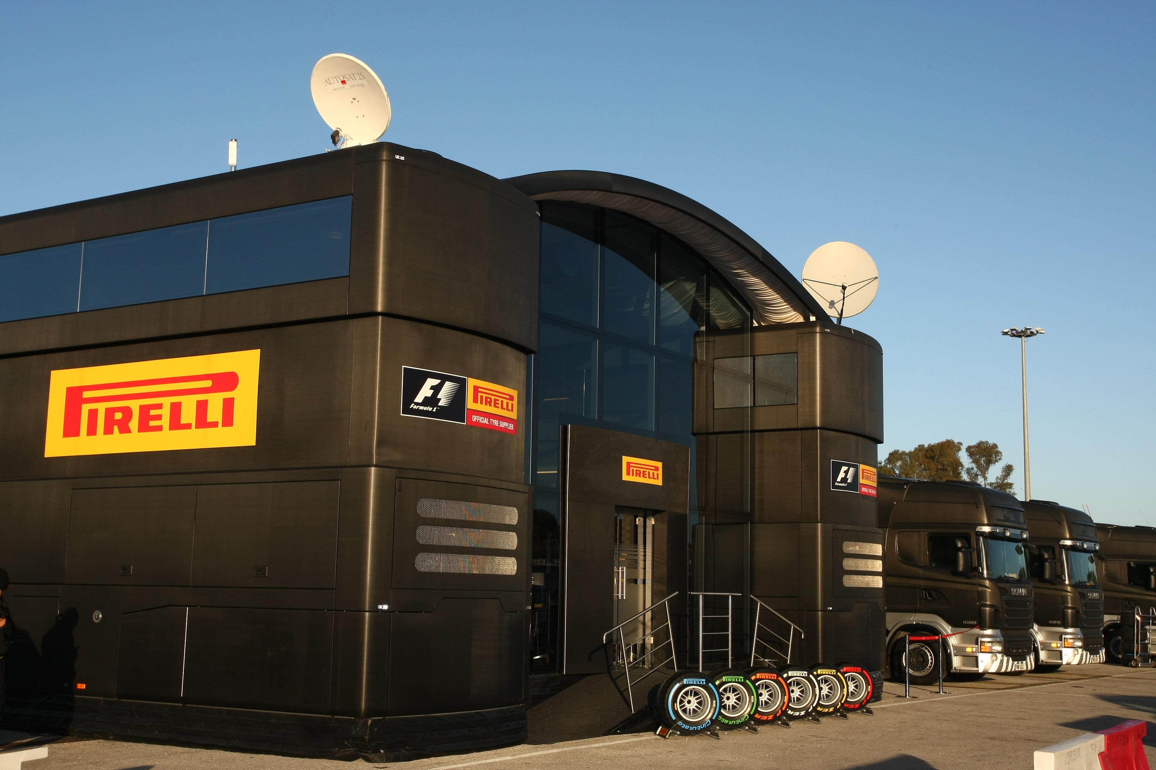 Pirelli F1 motorhome