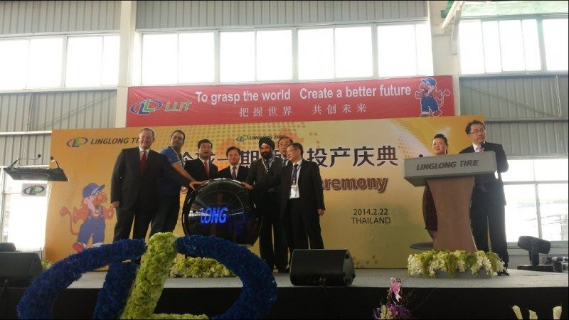Linglong Thailand tyre factory up and running
