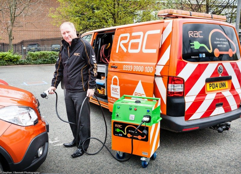 RAC launches first mobile electric vehicle charging station