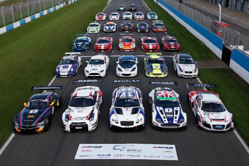 Avon Tyres British GT grid 2014