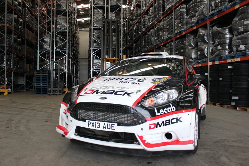 The Drive DMACK Fiesta Trophy rally car