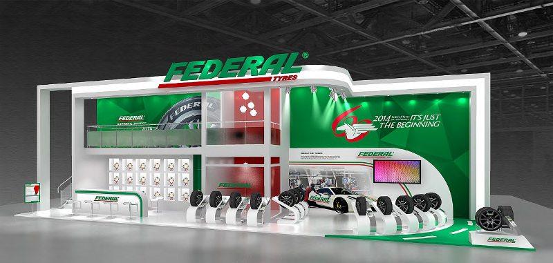 Federal Reifen 2014 Booth Design