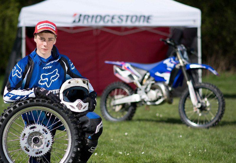 schoolboy motocross rider, Rob Yates
