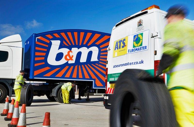 B&M signed a fleet service contract with ATS Euromaster early in 2014