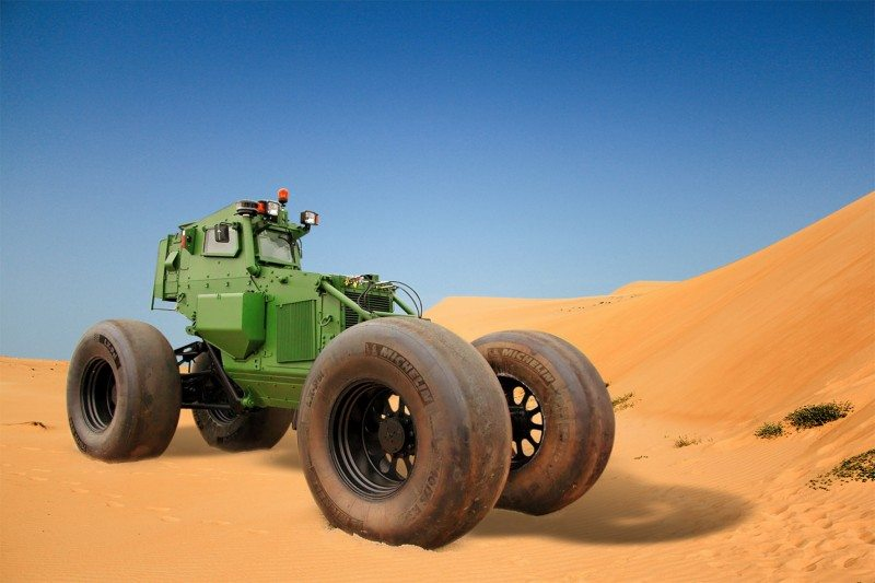 Michelin military tyre SOUVIM II land mine clearing system