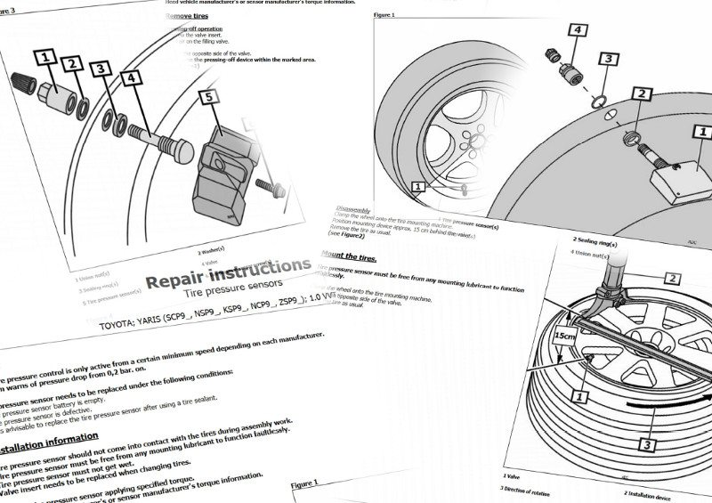 TecRMI portal repair and maintenance instructions for tyre pressure monitoring systems