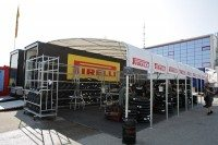 Pirelli WSB tyre working area Imola