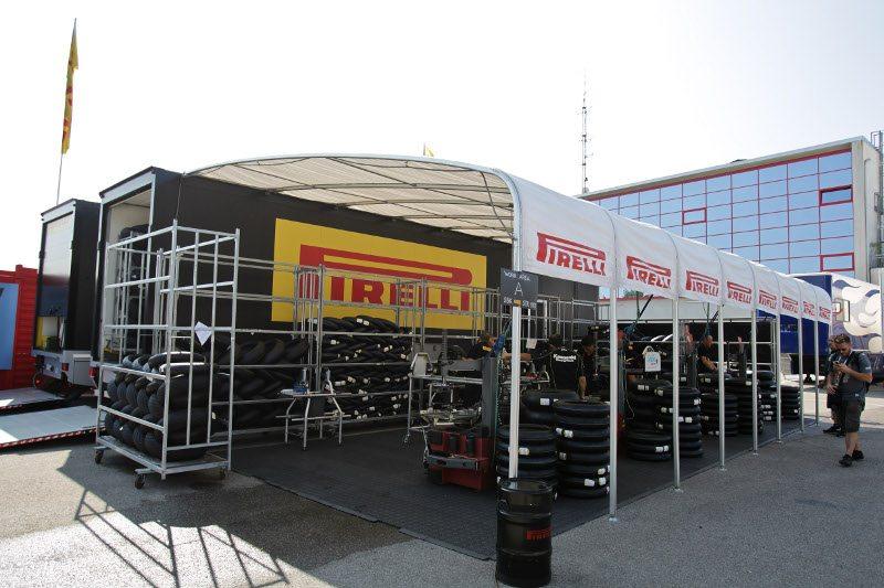 Pirelli WSB tyre working area Imola