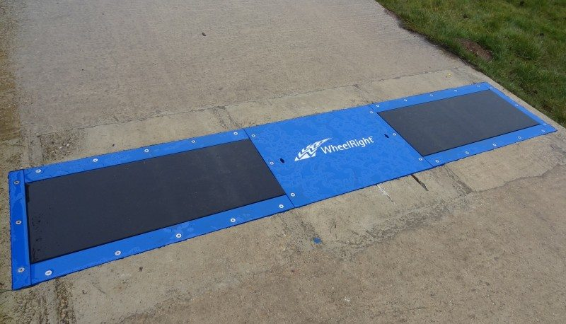 WheelRight's system features a sensory pad that is embedded into the road, at a point where vehicles enter or leave a facility or forecourt