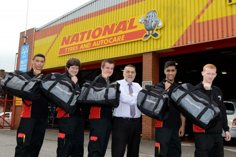 Bridgestone 'tyre toolbags' support National Tyres apprentices