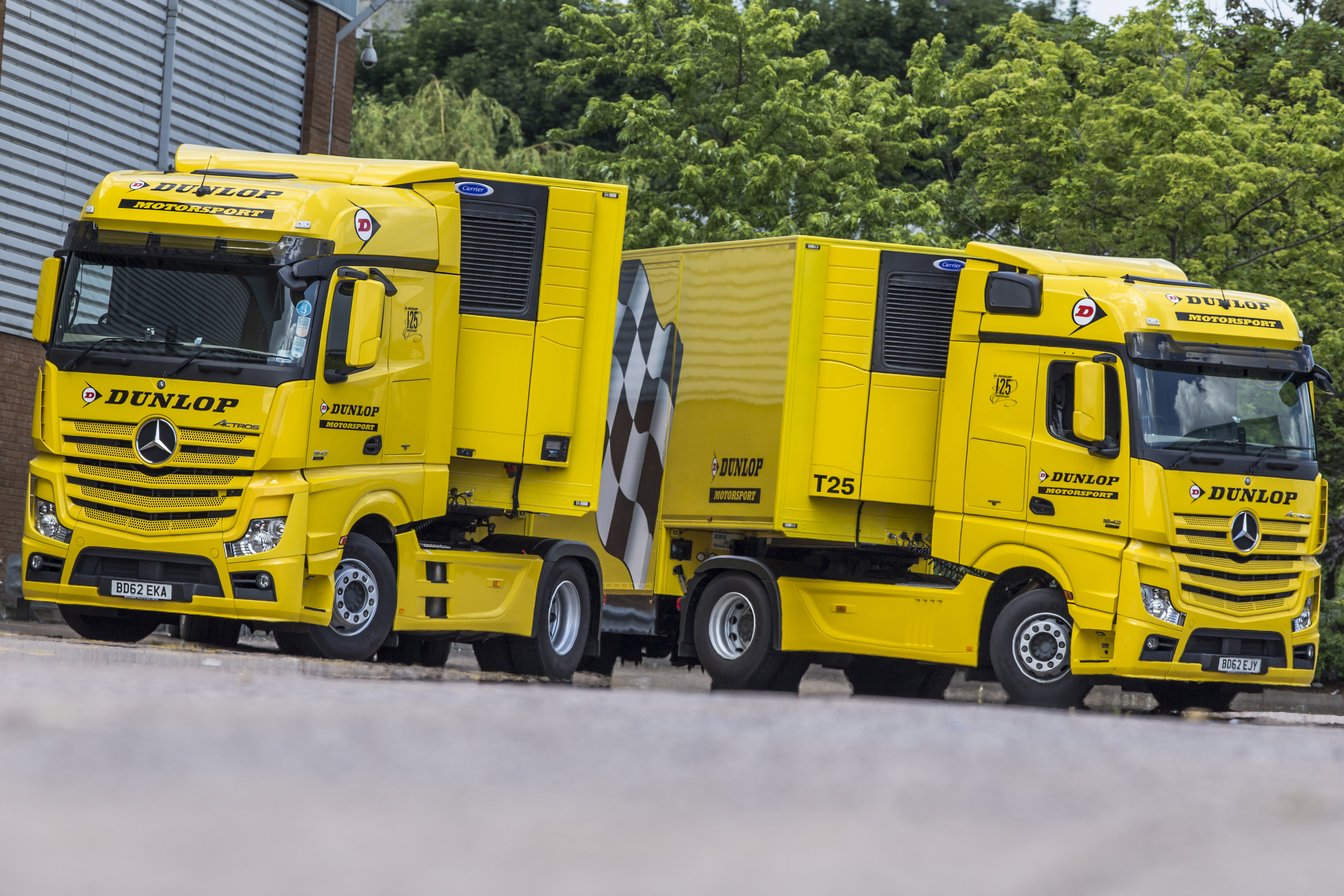 Dunlop Motorsport temperature-controlled trailers