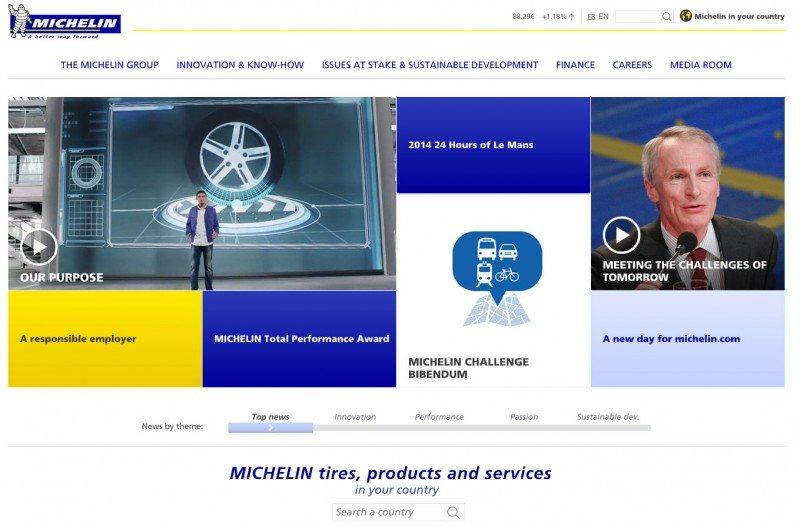 Michelin launches new corporate site, media portals