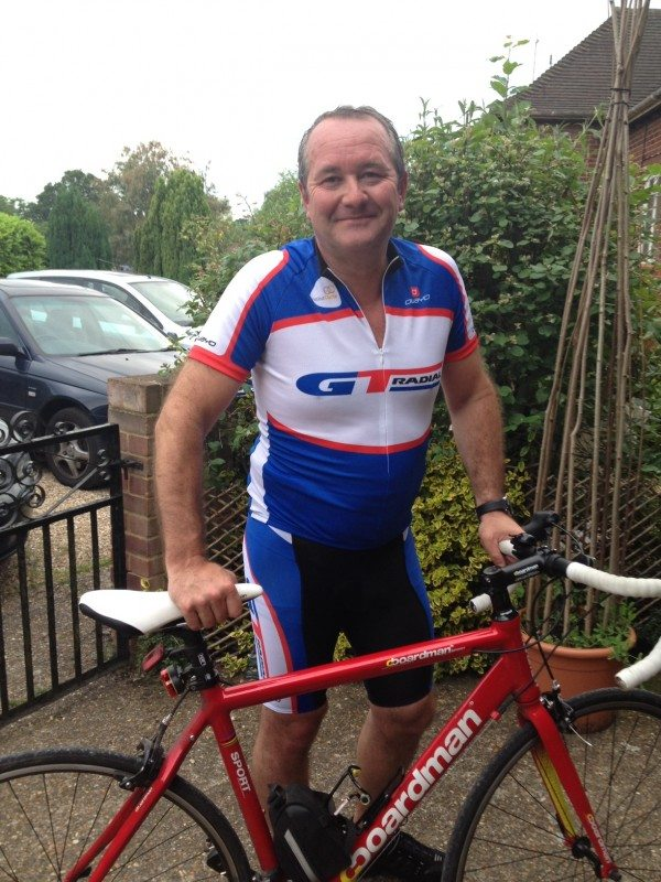 Brian McDermott, country manager UK for Giti Tire, cycling charity