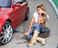 Tyres punctured to express Ukraine solidarity