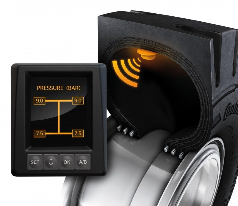 Continental extends TPMS support to industrial tyres