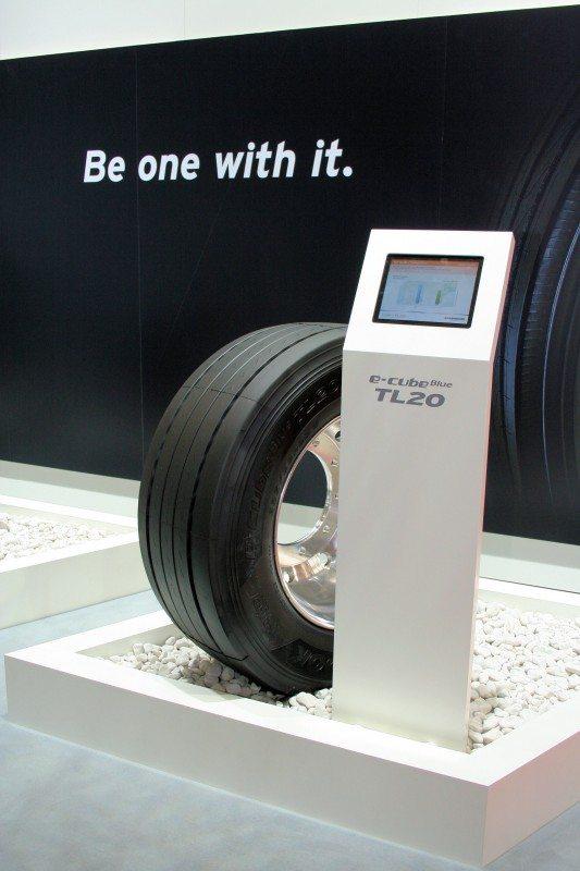 The Hankook e-cube Blue TL20 on show at the IAA