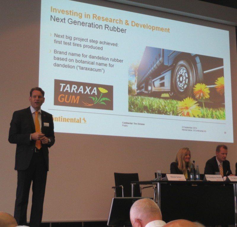 Taraxagum – Continental unveils brand name for dandelion tyre rubber