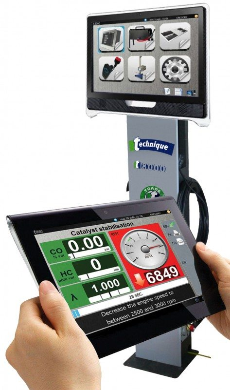 The Technique T8000, a new brake tester and gas analyser in one unit