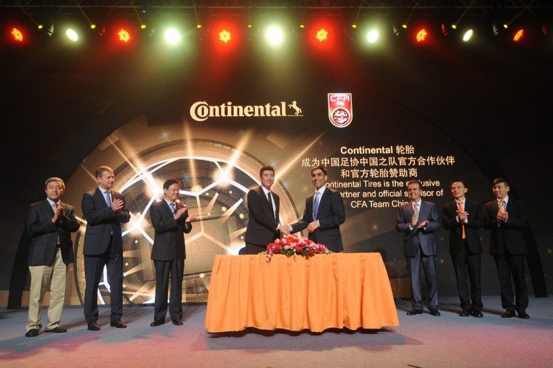 Continental furthers Asian football activities with Chinese sponsorship deal