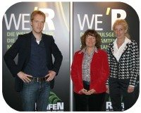 As are the team at Messe Essen, (l-r) Tom Kraayvanger, Annegret Appel and Annette Heydorn