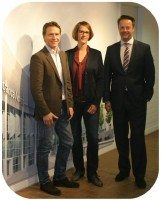 The team at Koelnmesse – (l-r) Ingo Riedeberger, Sarah Kraft and Christoph Werner – are confident about their show's chances