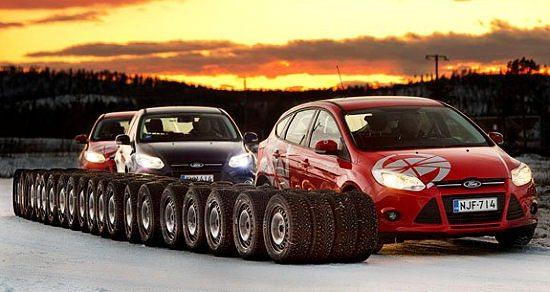 Motoring association NAF tests Nordic winter tyres