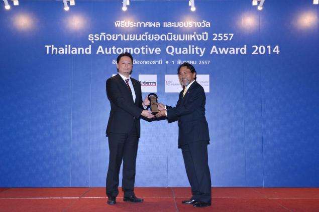 Five in a row for Bridgestone in Thailand's 'TAQA' awards