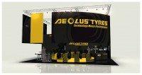 Aeolus presenting car tyre range at motortec 2015