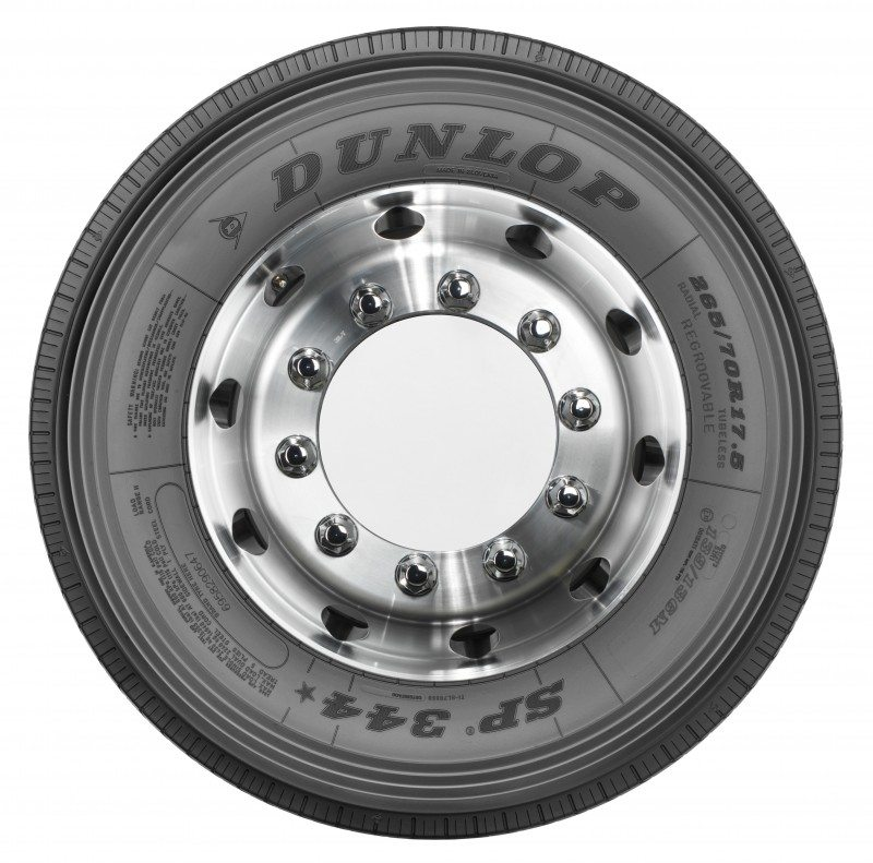 "Dunlop launches SP 344* 17.5"" Truck Steer regional commercial vehicle tyre"