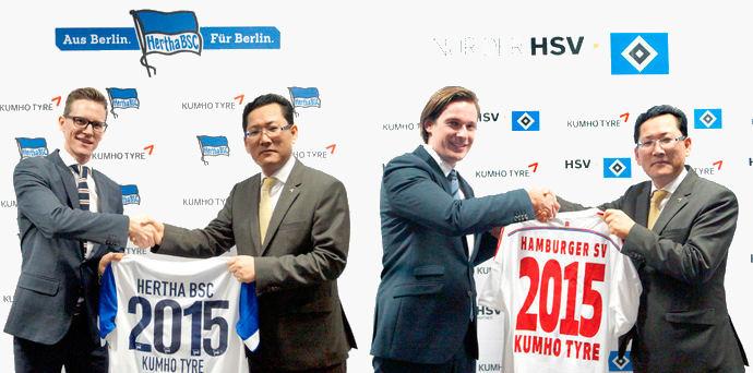 Kumho sponsoring two further German football clubs