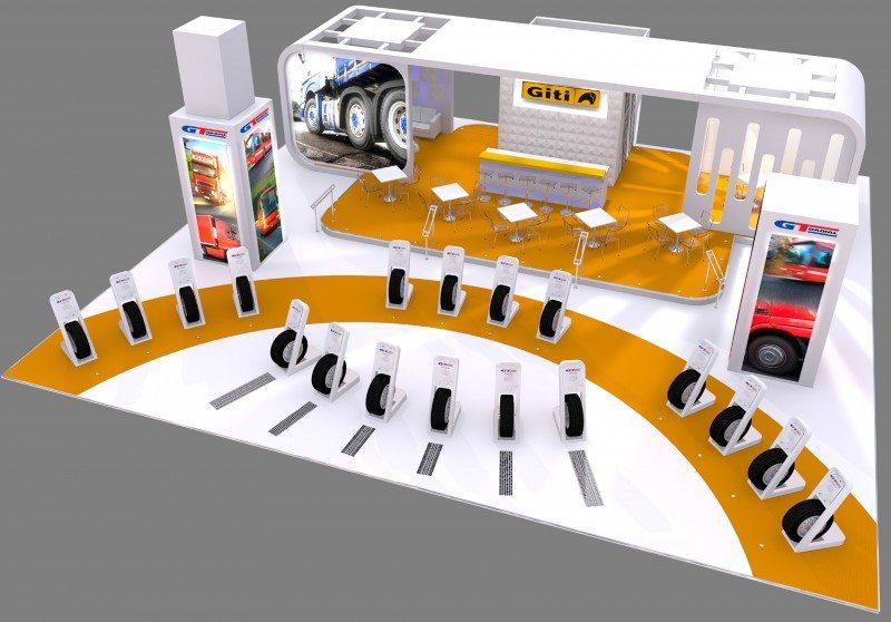 Giti Tire reveals CV Show 2015 stand design