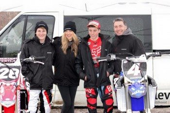 Jack Timms, Amy Dargan, Rob Yates and Paul Malin test the new Bridgestone X30 motocross tyre