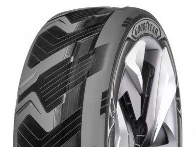 Goodyear presents battery-charging, shape-shifting tyres at Geneva show