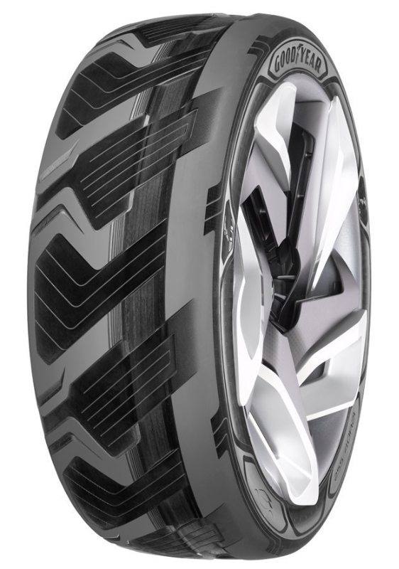 Goodyear presents battery-charging, shape-shifting tyres at Geneva show