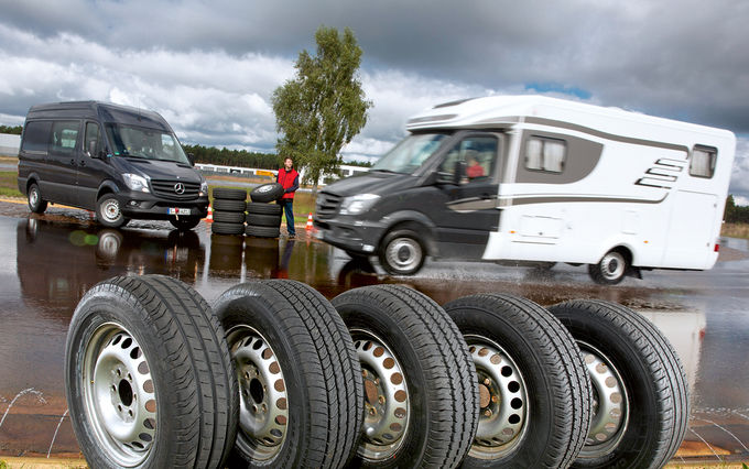 Campervan tyres put through their paces in Promobil tyre test