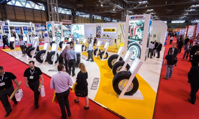 Large stand drives 'record visitors' to Giti at CV Show