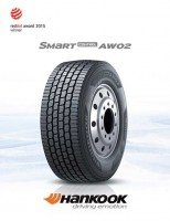 Hankook Smart Control AW02 TBR tyre wins Red Dot Design Award 2015