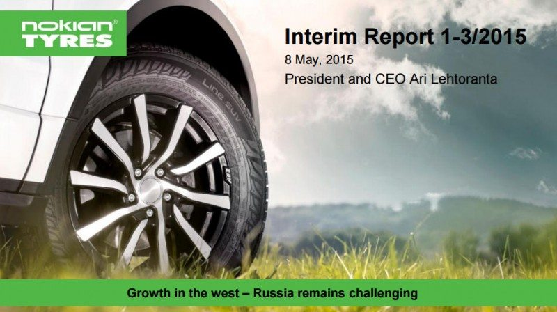 Difficulties in Russia drag down Nokian Tyres' Q1 2015 net sales