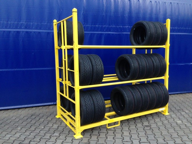 Arcom introduces new foldable pallet tyre racking system