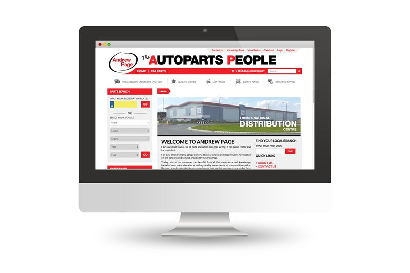 Andrew Page retail site goes live