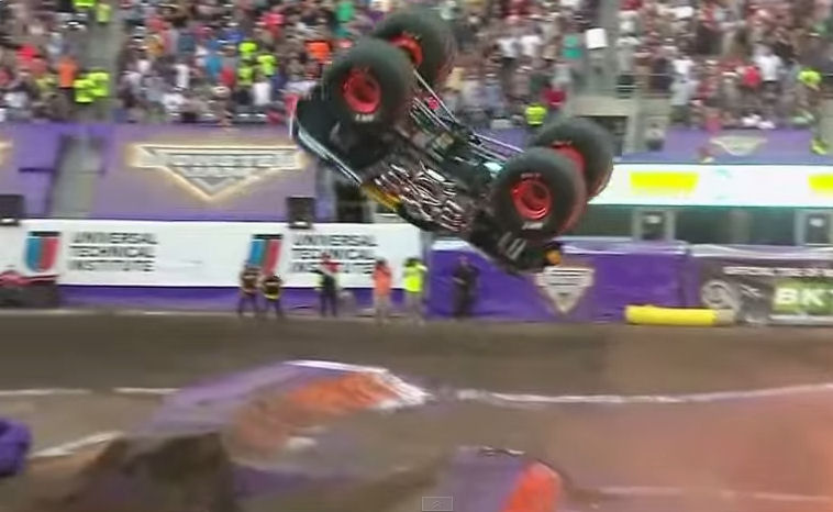 BKT congratulates Monster Jam champion on front-flip manoeuvre