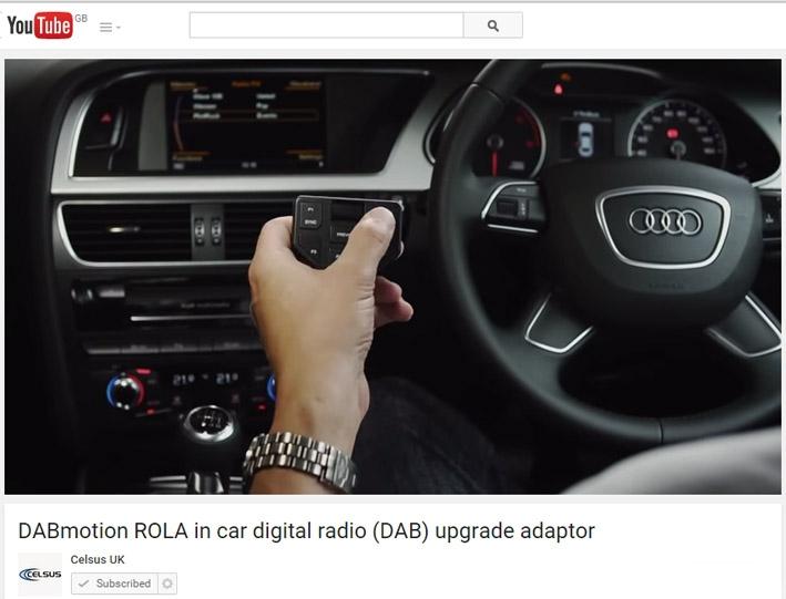 Celsus DABmotion video explains DAB conversion to aftermarket